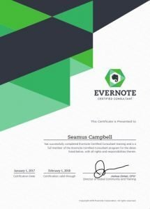 Seamus Evernote Certified Consultant